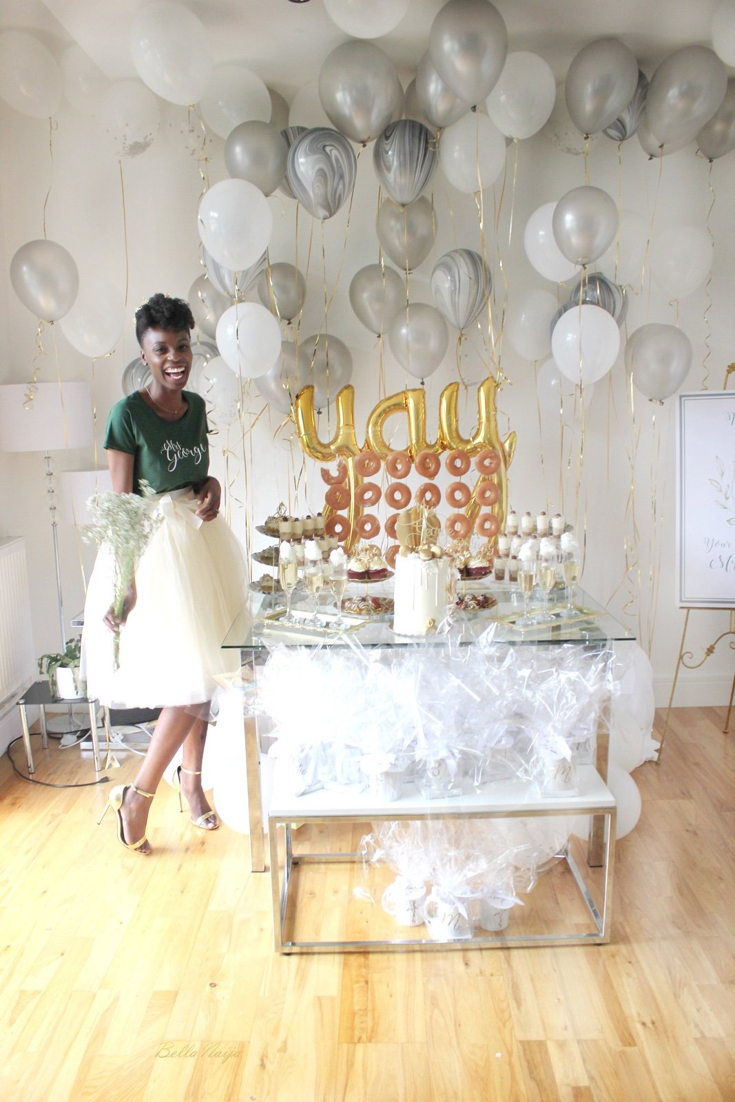her best friend and business partner planned a surprise bridal shower for her which