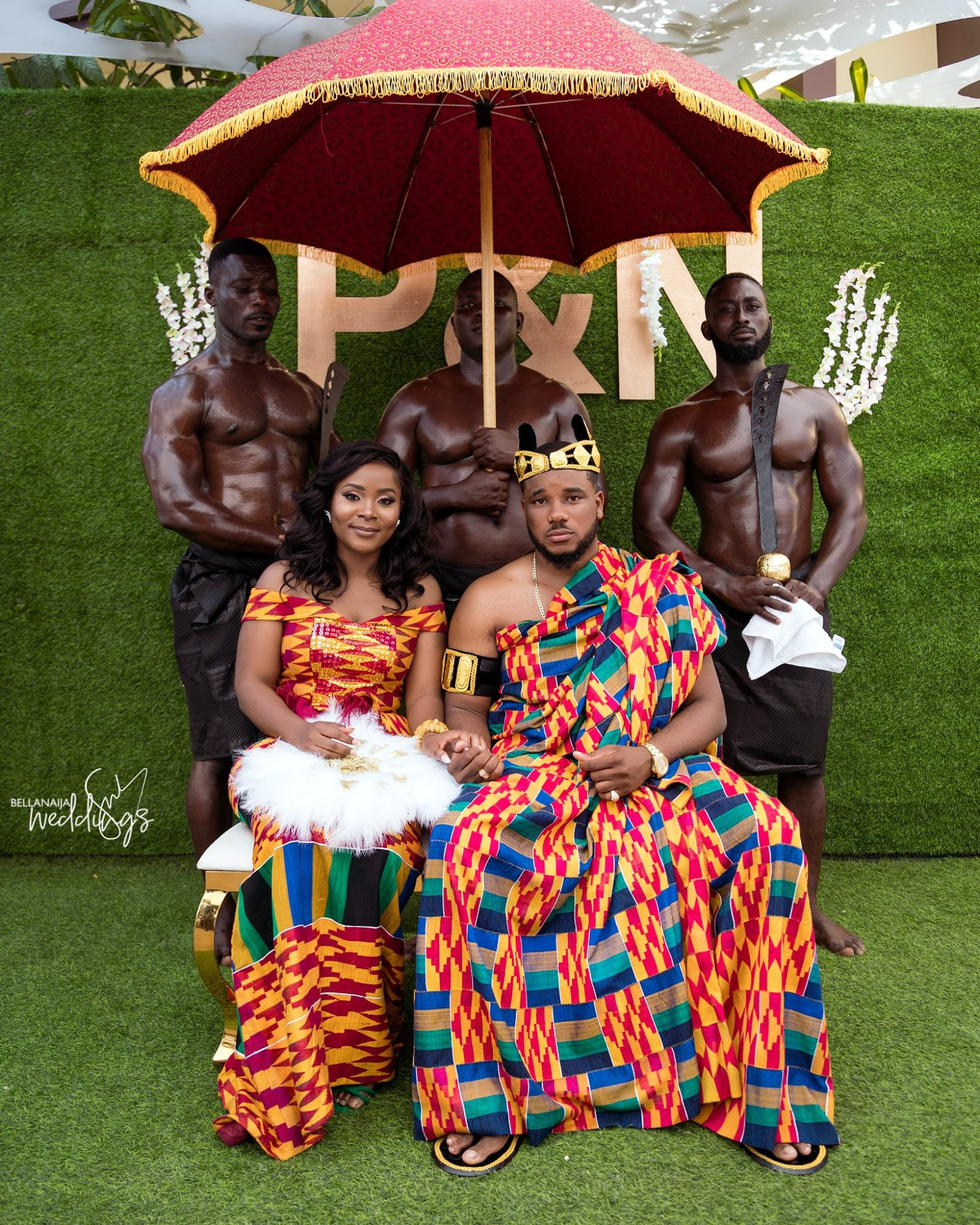 Naa & Prince's Traditional Wedding Was A Kente Party