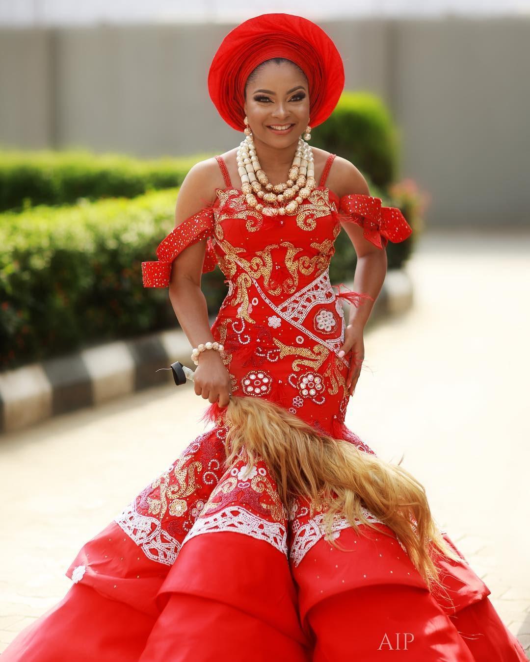 Linda Ejiofor Rocked 2 Beautiful Dresses At Her