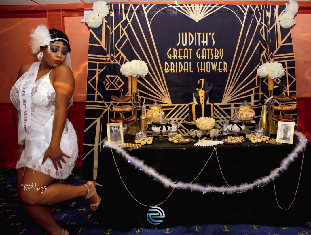 if you have never seen a great gatsby themed bridal shower no problem we got you