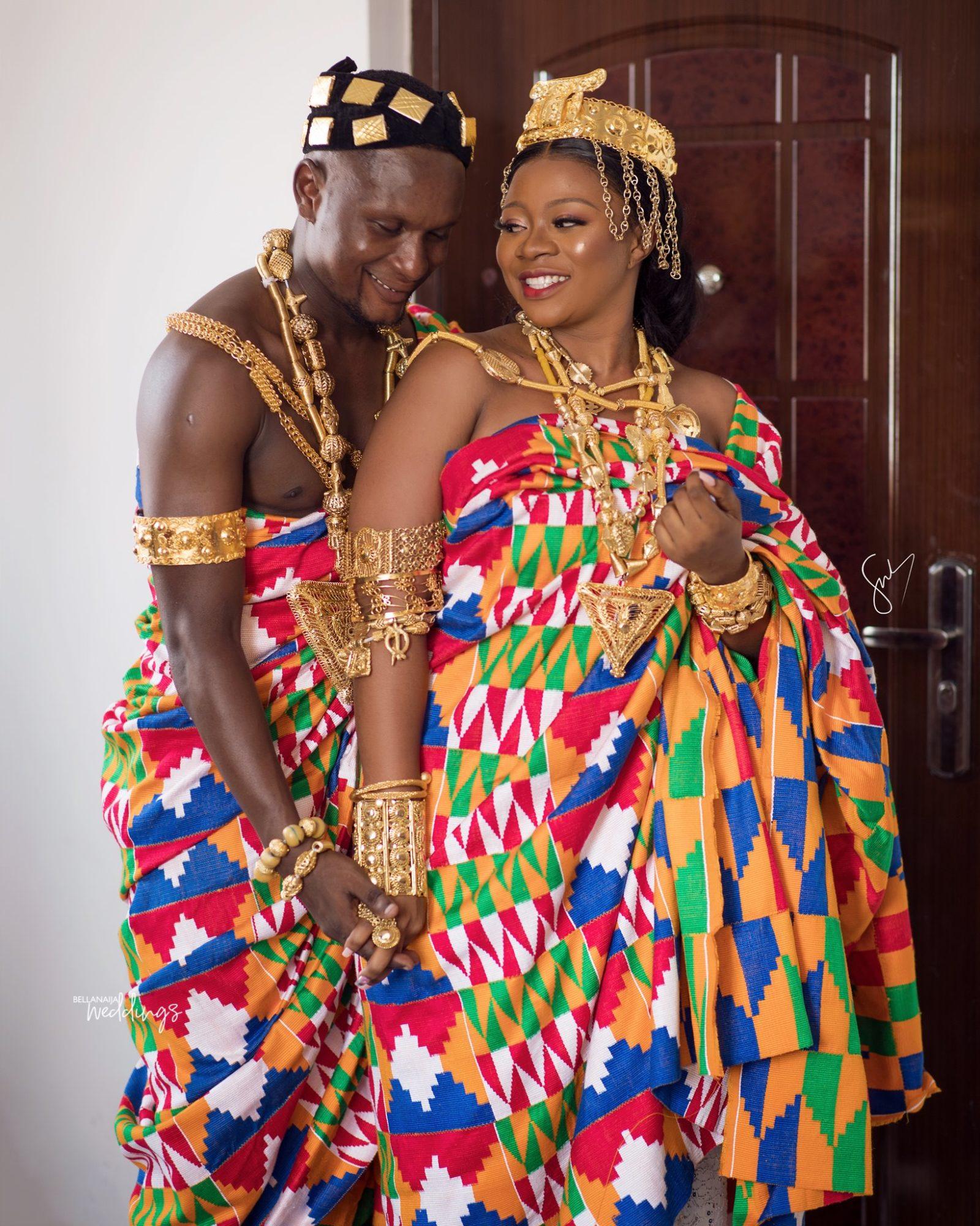 Ghanaian Traditional Wedding: Issa Kente Rush At Loretta & Josh's Traditional Wedding In
