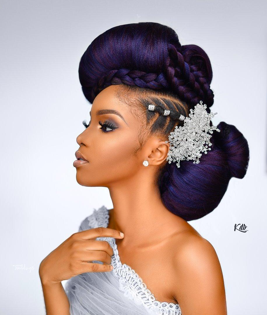 purple meets today's avant-garde inspired bridal look