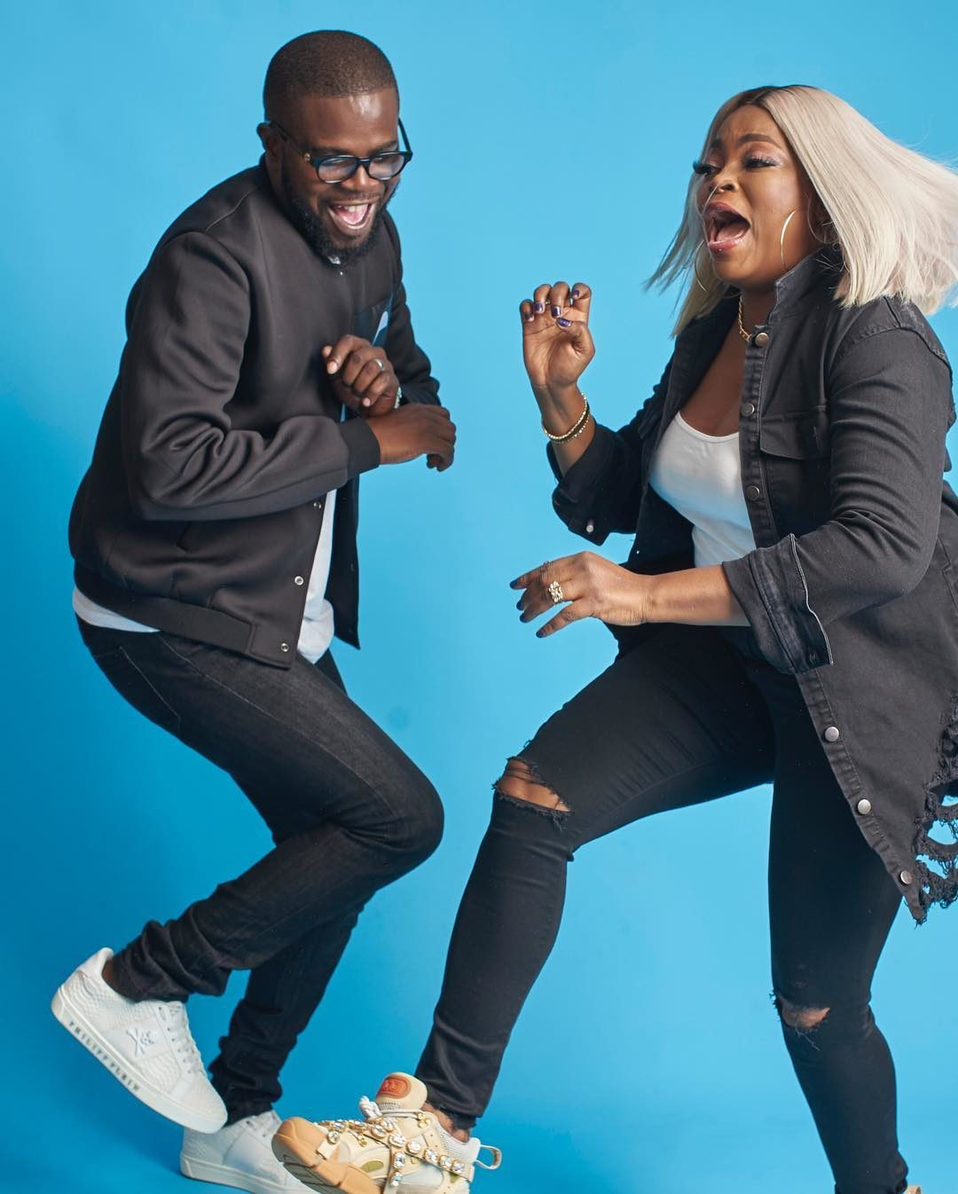 These Pictures of Funke Akindele-Bello & Jjc Skillz are Such a Delight