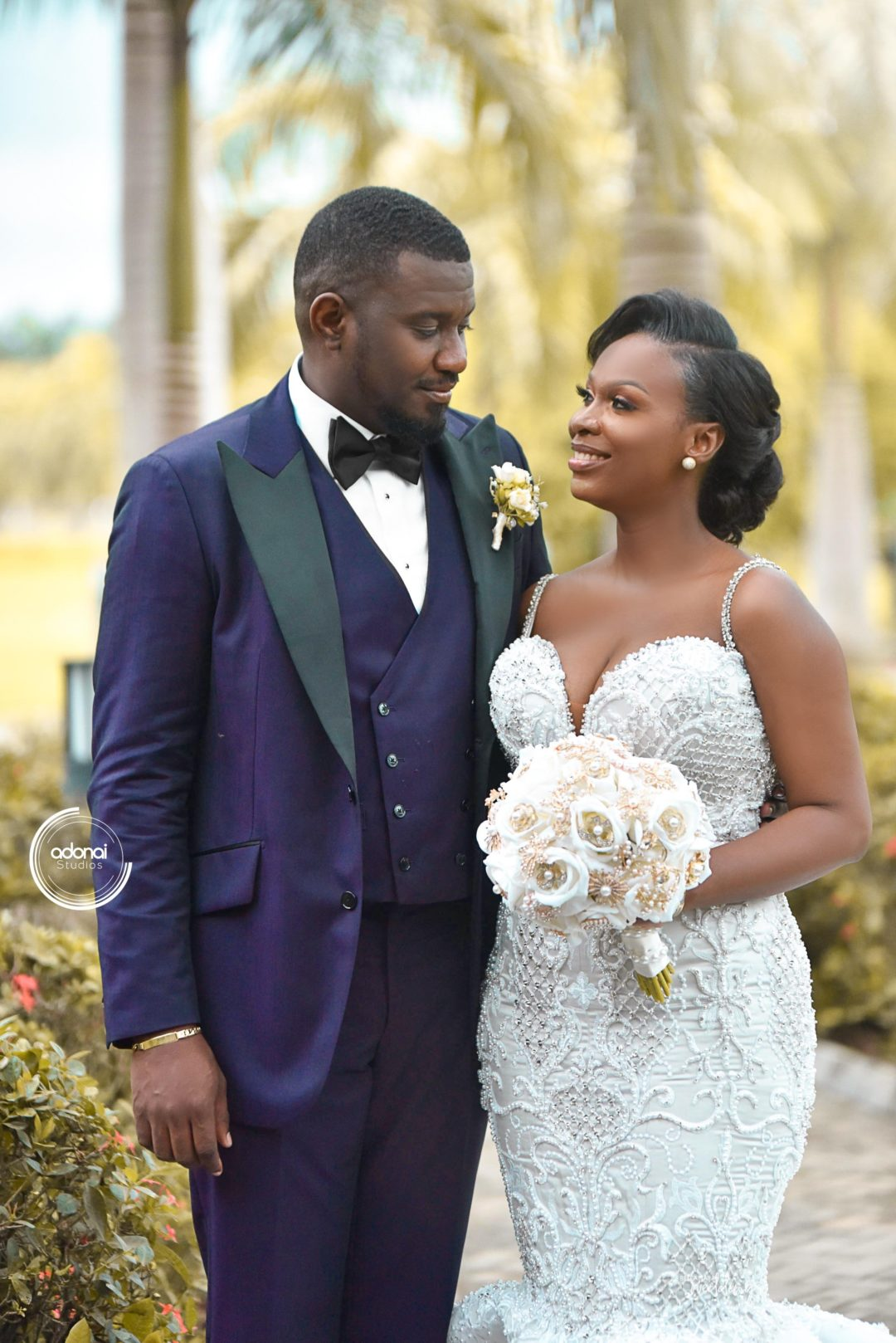 Exclusive Photos From John Dumelo S White Outdoor Wedding My