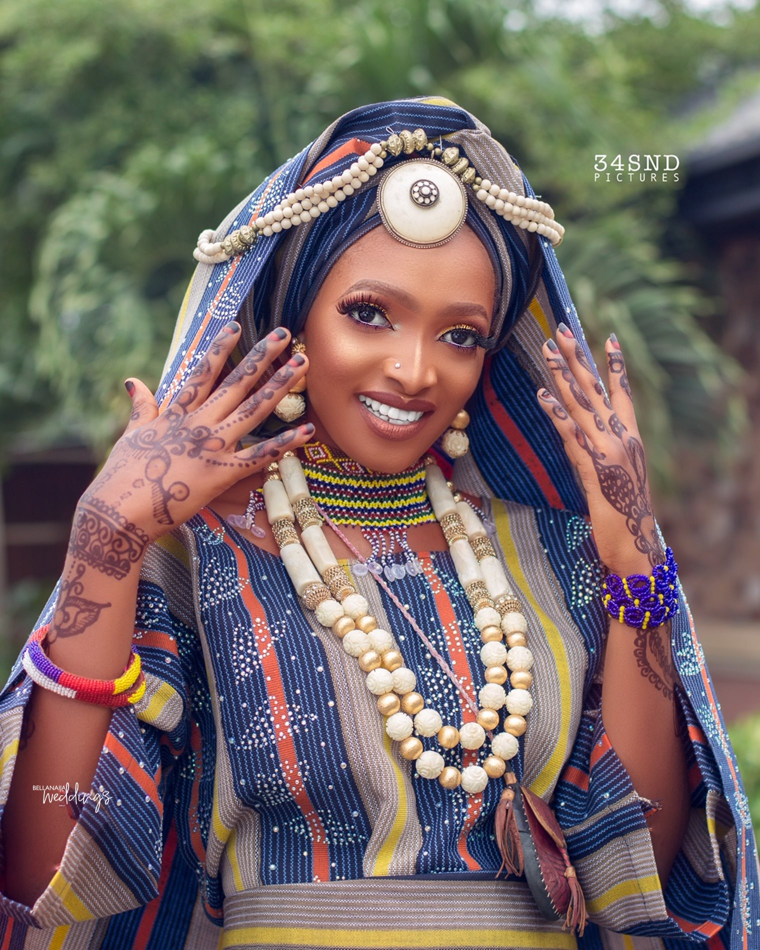 This Fulani Bridal Beauty Look Is The Right Serve Of