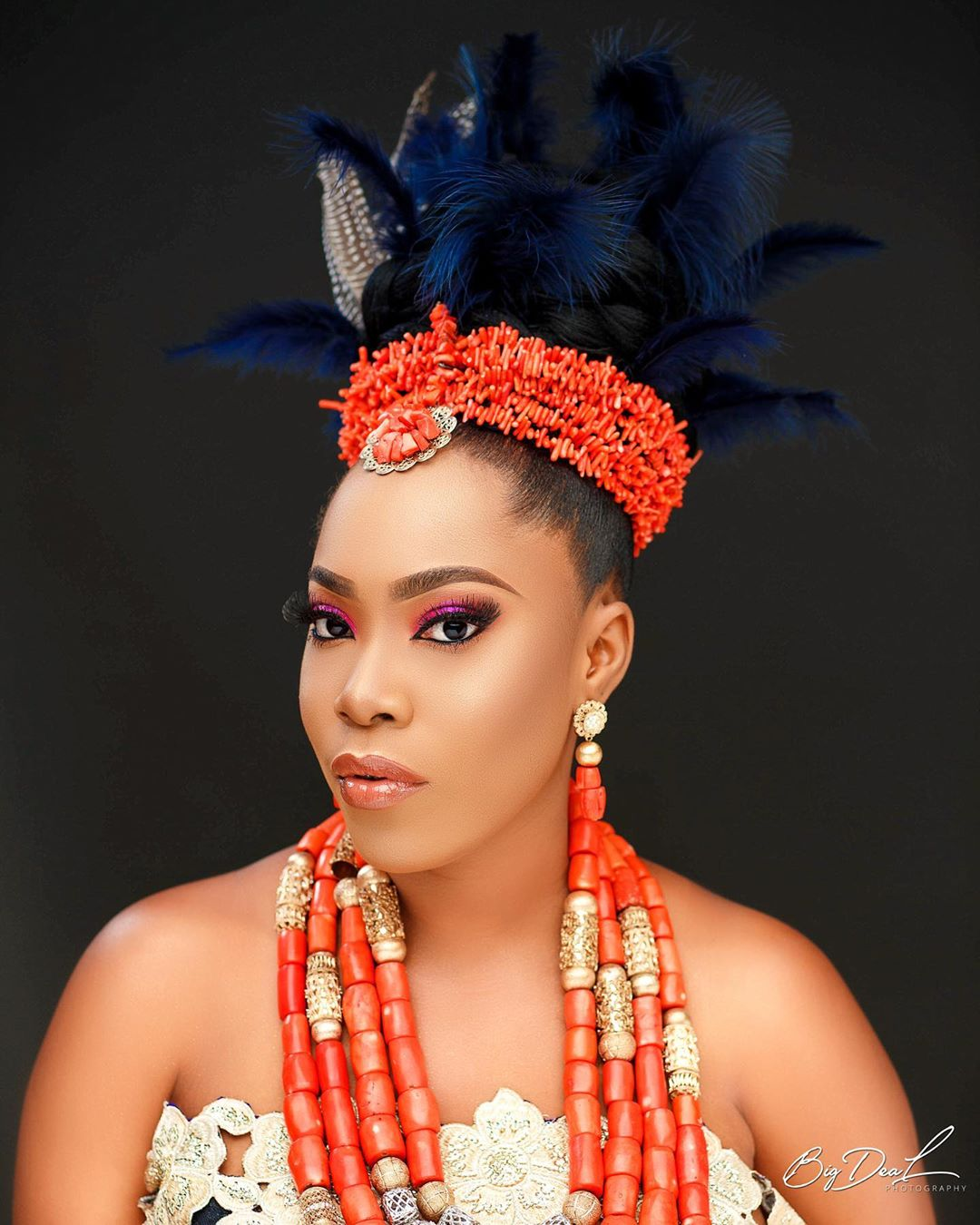 Need Bridal Hair Inspiration We Have You Covered: You Should Pin This Feather-Hairstyle For Your Igbo Bridal