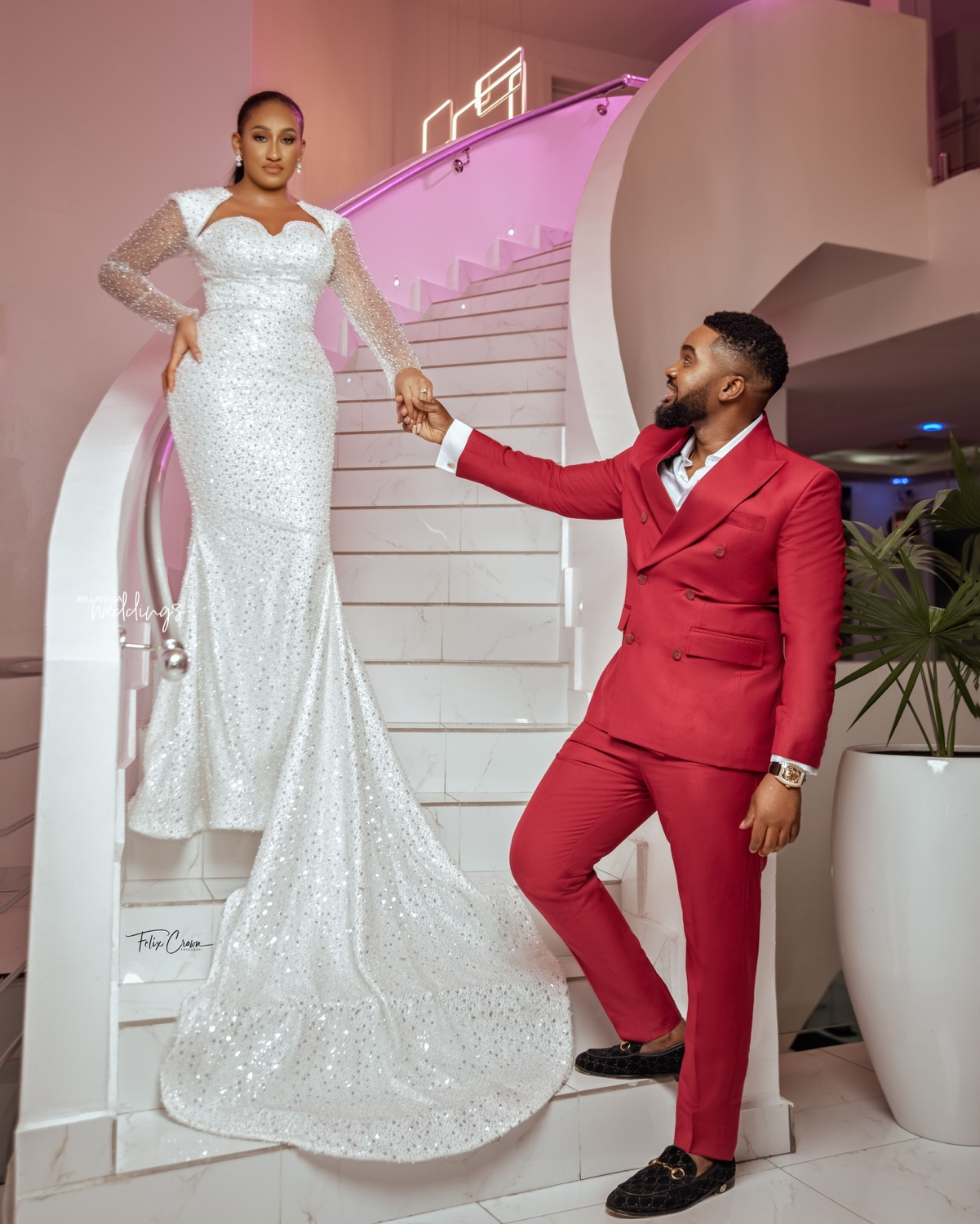 See William Uchemba & Brunella Oscar's Picture Perfect Pre-Wedding Shoot